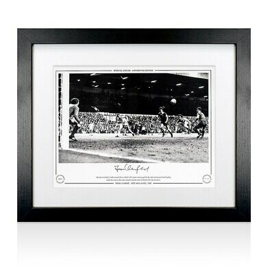 Framed Frank Lampard Snr. Signed West Ham United Photo - 1980  Autograph