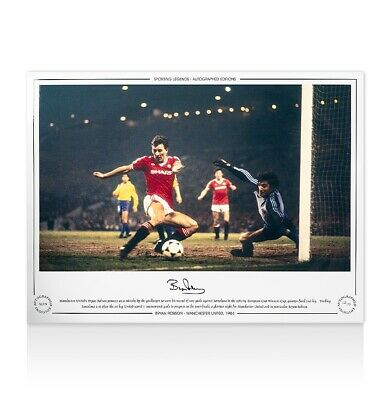 Bryan Robson Manchester United Photo - 1984 Autograph