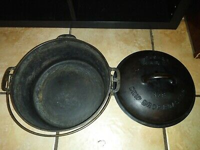 Cast Iron No 8 Wagner Ware Dutch Oven Drip Drop Roaster Sidney O