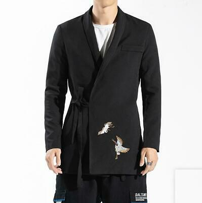 Men's Fashion Design Chinese Style Birds Embroidery Suit Coats Party Formal Suit