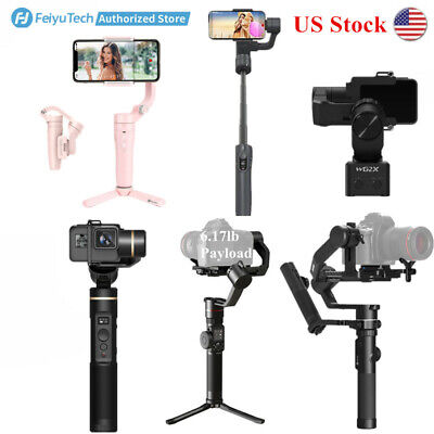 FeiyuTech 3-Axis Gimbal Stabilizer Fits Cellphones/Action ,DSLR Cameras US Stock