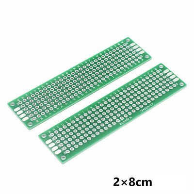 5X Double-Sided PCB Circuit Module Board Prototype Breadboard 2X8cm For ARDUINO