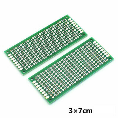 5X Double-Sided PCB Circuit Module Board Prototype Breadboard 3X7cm For ARDUINO