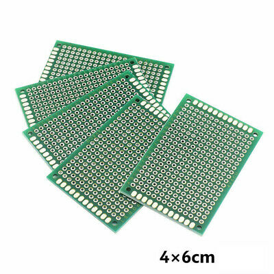 5X Double-Sided PCB Circuit Module Board Prototype Breadboard 4X6cm For ARDUINO