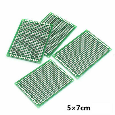 5X Double-Sided PCB Circuit Module Board Prototype Breadboard 5X7cm For ARDUINO