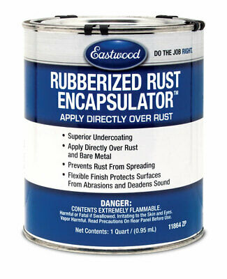 Eastwood Black Rubberized Rust Encapsulator 1 Quart LOW VOC Formula
