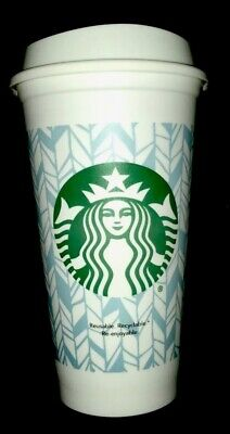 Starbucks Reusable Plastic Coffee Cup White Grande 16oz Limited Edition