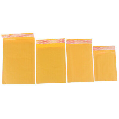 10pcs Yellow Kraft Bubble Mailers Padded Envelopes Self Seal Shipping Bags