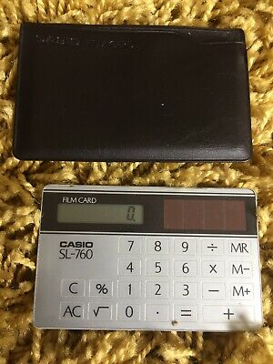Casio Sl-760 Film Card Retro Vintage Calculator - Good Working Condition