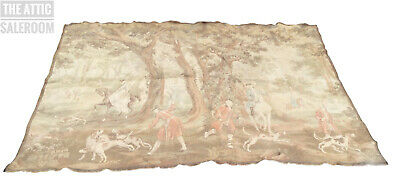 Stunning Large 2400*1700mm Antique French or Belgian Fox Hunting Tapestry