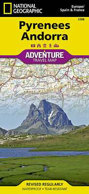 National Geographic Pyrenees & Andorra, Spain/France Europe Adventure Map 3308