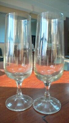 Lot of 2 Crystal France Baccarat Antique four beautiful clear bay doubl Glasses