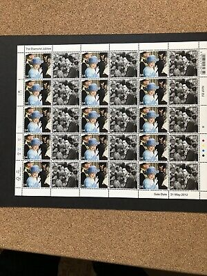 2012 Diamond Jubilee 1st Class Stamp, Sheet Of 30 Stamp. Trooping The Colour &Go