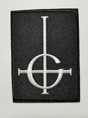 Ghost cross logo embroidered  IRON ON , OR SEW  PATCH