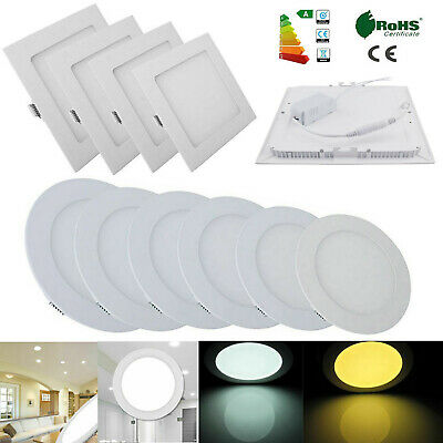 9W 12W 15W 18W 21W Dimmable Recessed LED Ceiling Panel Light DownLight Lamp RKA