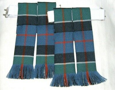 Kilt Flashes Tartan Leslie Ancient Worsted Wool Made In Scotland Highland Gents