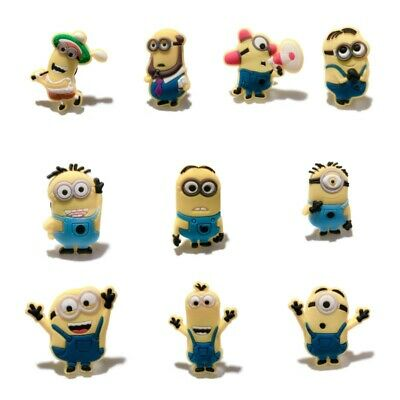 50pcs Minions Shoe Charms Accessories Buckles Fit for Shoes Bracelets Bands Gift
