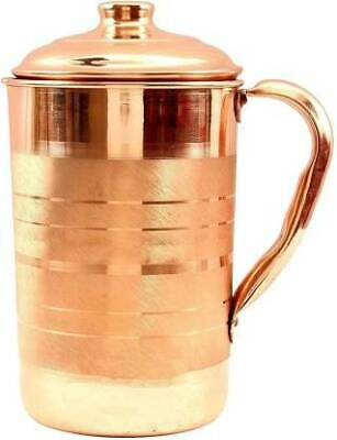 Pure Copper Handmade Jug Water Pitcher 1.5 L  Storage Fast Expited Ship