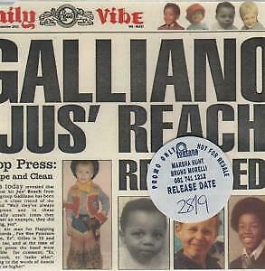 GALLIANO Jus Reach Recycled CD 4 Track Promo B/w Hungry Like A Baby, Jus' Reac