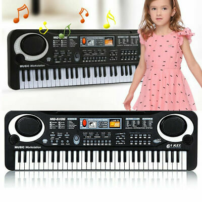 61 Keys Digital Electric Piano Music Electronic Keyboard Organ & Microphone Kids