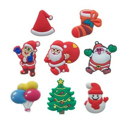 50pcs Christmas Shoe Charms Accessories Buckles Fit for Shoes Bracelets Bands