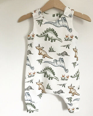Baby Boys Girls Dinosaur Romper Dungarees Pants Infant Jumpsuit Playsuit Outfits