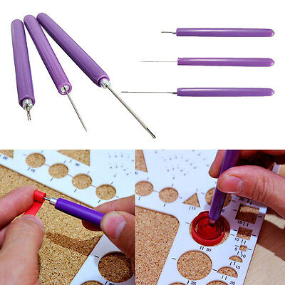 3pcs/Set Paper Quilling Tools Origami DIY - 2Assorted Needles &1 Slotted Tool_AU