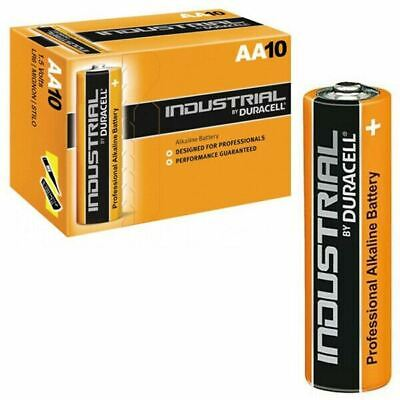 10 X Duracell Industrial Alkaline Aa Batteries Expire 2026 Professional 1.5V