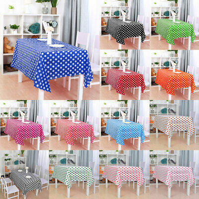 PE Disposable Tablecloth Rectangle Stain Resistant Table Cover Cloth Protector