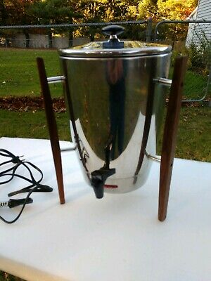 Vintage Regal Stainless Atomic  Percolator 10-30 Cup Coffee Maker Urn 1330