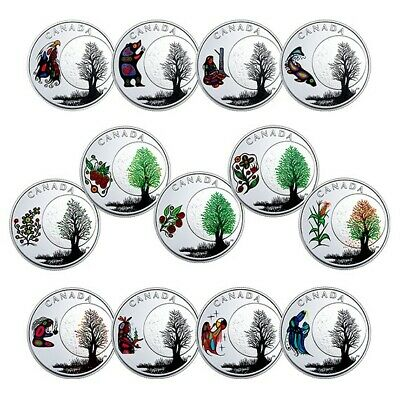 2018 Canada 13 Sacred Teachings from Grandmother Moon – RCM 13 Coin Set