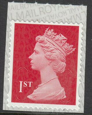 GB 2019 1st CLASS SCARLET SELF ADHESIVE M19L MBIL SBP2i MNH From Business Sheet