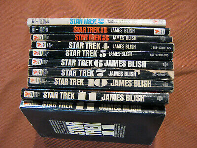 Lot of vtg STAR TREK TV series Books James Blish 60s 70s Spock Kirk TOS Si Fi