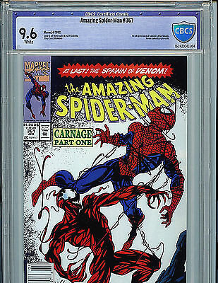 Amazing Spider-man #361 CBCS 9.6 nm+ Marvel Comic 1992 1st Carnage Newstand B23