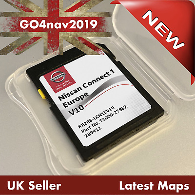 Nissan Connect 1 V9 Lcn1 Sd Card Map Navigation Map Uk & Europe 2019 - 2020