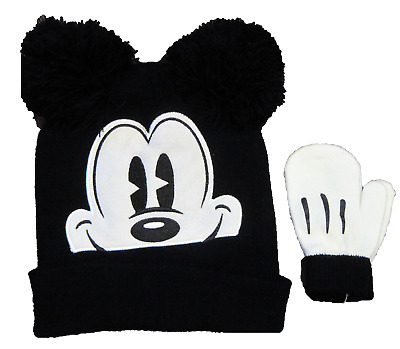 Disney Mickey Mouse Toddler Cold Weather Set hat and mittens