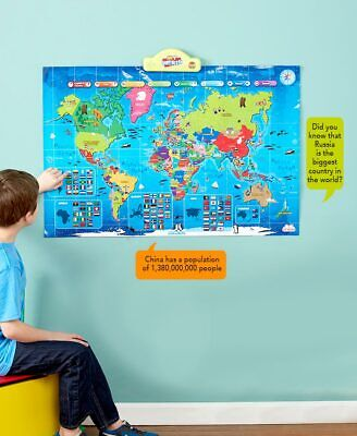 Educational Talking Toy For Boys And Girls I-Poster My World Interactive Map