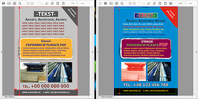 DTP - Edition and correction of graphic designs for printing/160h, special price