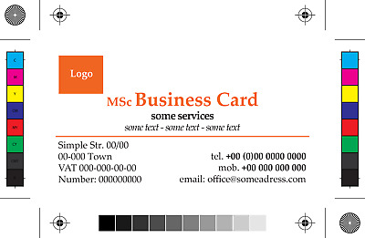 Single-sided business card, simple version, special price - DTP graphic design