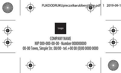 Rubber of automatic stamp 50x20mm size/other size, spec.price DTP graphic design