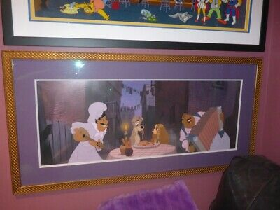 Disney Cel Wdcc Lady And The Tramp Widescreen Cornerstone Collection Piece, Ec.