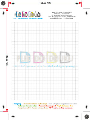 Single-sided A4 jobbing print/writting block, special price - DTP graphic design