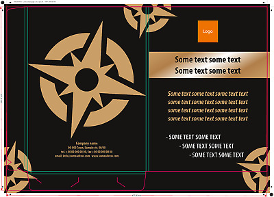 Printed business paper case 475x337mm size/other, spec.price, DTP graphic design