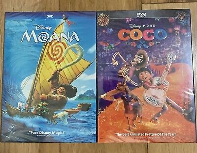 Disney: Moana (2016) & Coco (2017) DVDs **GREAT DEAL** **FREE SHIPPING**