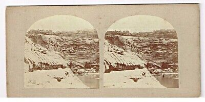 Stereoview SV Early 50s Frith 306 Kalat Adde Egypt and Nubia Abou Simbel Nile