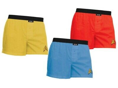 Star Trek Classic TV Boxer Shorts Set of 3 Command Science Engineering Size SM