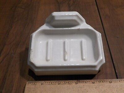 Vintage White Ceramic Bath Room Wall Mount Soap Dish