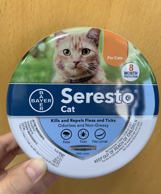 Bayer Seresto flea and tick treatment collar for Cat Under 18 lbs 10 weeks Age