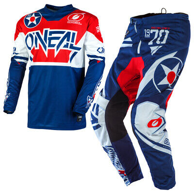 Oneal Element Warhawk Blue Red Kit Combo