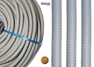 20mm Grey Flexible Conduit Polypropylene Corrugated Kopex Cable tidy LSOH